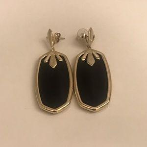 Kendra Scott Black and Gold Earrings